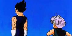 "I really loved this scene.  I felt like it proved something to me.  For all of watching DBZ, all I heard from people was ""oh Trunks doesn't love vegeta.""  But, I felt this moment (ANd future trunks admitting to loving him, even through his flaws) show cased it the most.  See how trunks runs to him, and grabs his hand with that big smile on his face?  I see admiration there, the same a way a young boy would look at a parent who achieved greatness.  Just my opinion, please don't bash."