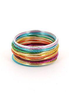 Sangali - Bracelet set multicolore  http://www.diwali-paris.com/bijoux-bracelet-multicolore-metal-chiquita.html