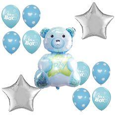 Baby Shower Supplies Its a Boy Anagram Foil Balloon Bouquet Teddy Bear Dots Star #Anagram #BabyShower