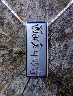 """Om Mani Padme Hum"" is a prayer gifted to us by the thousand Buddhas out of their compassion for all sentient beings, protecting us from harm. Om Mani Padme Hum, Tibetan Jewelry, Compassion, Dog Tag Necklace, San Diego, Prayer, Park, Store, Gifts"