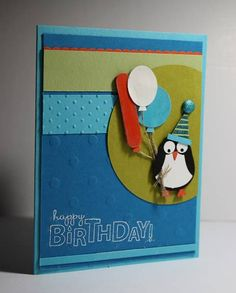 Birthday Penguin by Kristin Moore - Cards and Paper Crafts at Splitcoaststampers