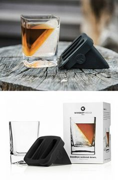 The Whiskey Wedge creates an intriguing wedge of ice inside its specially designed tumbler. Keep your favorite drink cool--both in temperature and in appearance--as the ice block melts slowly.