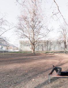 Studio Vacchini Architetti, Simone Bossi · Palestra di Losone. Switzerland