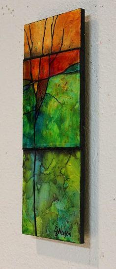 "CAROL NELSON FINE ART BLOG: ""Make a Wish"" mixed media abstract paitning © Carol Nelson Fine Art"