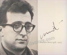 Berio, Luciano - Signed Photo