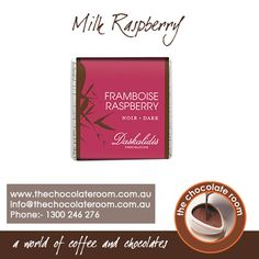 #Milk #Raspberry #Chocolate!! For more details, follow @chocolateroomau