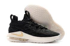 24fad87d877 2018 Nike LeBron 15 Low Black Metallic Gold-Phantom AO1755-001 For Sale