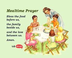 Sweet one to teach your kids Catholic Prayers Daily, Spiritual Prayers, Daily Prayer, My Prayer, Prayers Before Meals, Mealtime Prayers, Encouraging Quotes For Kids, Food Prayer, Prayer For My Family