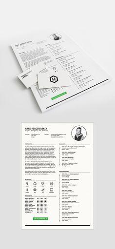 resume template / CV by Hans-Jørgen Løken