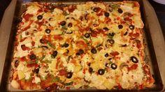 Vegan pizza with daiya.