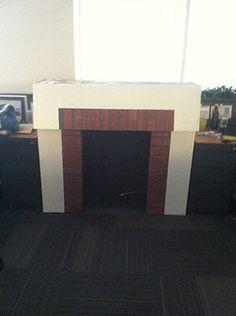 Si siempre quisiste una chimenea, con 3 cajas de cartón podes hacerla