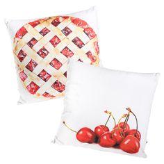 Cherry & Pie 18x18 Pillow