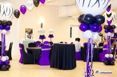 Purple Sweet 16 Party #sweet16 #purpleparty