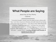 Partner with me and kick off the New Year in the most powerful way with my 30 Day Money Cleanse! Give me the opportunity to be on your team and 2015 will be the year you conquer your biggest life goals. The 30 Day Money Cleanse provides the perfect foundation to start living into the financially blissful life you deserve! http://knowingyourworth.com/30-day-money-cleanse/