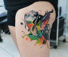 ideas tattoo sleeve girl colour thighs for 2019 Eagle Tattoos, Star Tattoos, Body Art Tattoos, Tribal Tattoos, Girl Tattoos, Girls With Sleeve Tattoos, Tattoos For Women, Tattoos For Guys, Pigeon Tattoo
