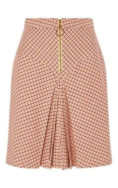 Bordeaux Pleated Checked Yoke Skirt by MANOUSH for Preorder on Moda Operandi Source by African Print Skirt, African Dress, Latest African Fashion Dresses, African Print Fashion, Skirt Outfits, Dress Skirt, Work Skirts, Work Attire, Classy Dress