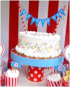 simple buttercream sprinkles cake bunting