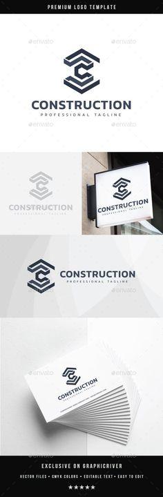 Construction Logo - Abstract Logo Templates Construction Logo Design, Financial Logo, Abstract Logo, Logo Ideas, Logo Templates, Core, Architecture, Easy, Arquitetura