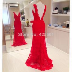 Elegant Red Off The Shoulder Prom Gown Evening Dress TCD5497 | Red ...