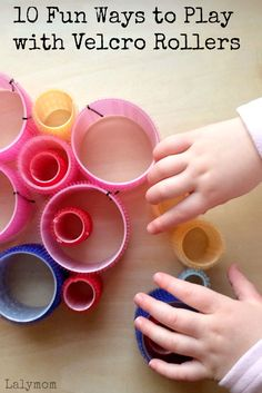 10 Fun Ways to Play with Velcro Rollers - Great fine motor activities!