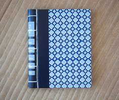 blue vintage hand made journal // hard bound journal by ericmbaral, $23.00