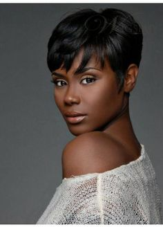 2013 Stylish Unique Top Quality African American Hairstyle Short Straight Black Glueless Full Lace Wig 100% Human Hair
