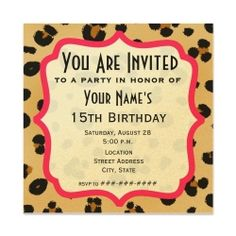 Wild Animal Print party supplies. A Wild Animal Print party theme would be perfect for my 30th birthday!!