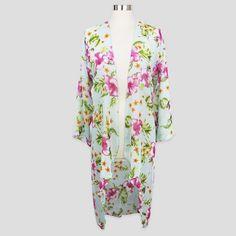 Sylvia Alexander Women's Hibiscus Kimono Jacket : Target