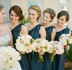 love the updos on these gals!  | A Bryan Photo #wedding