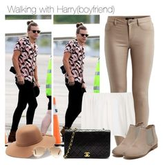 """Walking with Harry(boyfriend)"" by directioner-123-ii ❤ liked on Polyvore"