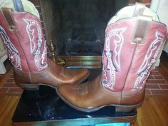 Red,white and blue, custom Crystal Ariat boots