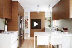 Liked the vent/hood covered by storage; liked the drawer within a drawer; liked pull out trash/recycling; like the sleek white