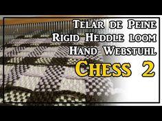 Telar de Peine Punto CHESS 2 Pattern Rigid Heddle Loom Hand Webstuhl Muster Lana Wolle - YouTube