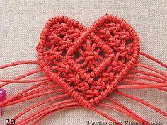 МК Плетёное сердечко в технике макраме - Ярмарка Мастеров - ручная работа, handmade