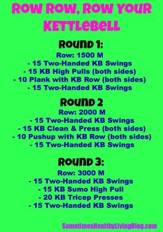 Row Row Your Kettlebell: Work lower body and upper body in this 45-50 minutes workout!