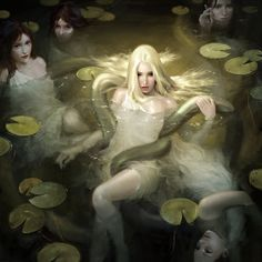 The Naiads were fresh-water Nymphs who inhabited the rivers, streams, lakes, marshes, fountains and springs of the earth. They were immortal, minor divinities who were invited to attend the assemblies of the gods on Mount Olympos.