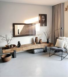 Loft Inspiration // Loft Interior The Perfect Scandinavian Style Home Homedecor.laviye – Home Decor ideas Boho Living Room, Home And Living, Living Room Decor, Living Room And Bedroom In One, Yoga Room Decor, Nordic Living Room, Living Room Shelves, Small Living Rooms, Modern Living