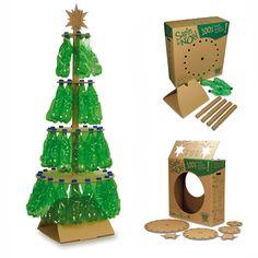 ¿Qué tal si empezamos a ver las posibilidades del Árbol de Navidad con un sin fin de muestras de reciclaje? Aquí va la primera tanda.      ...