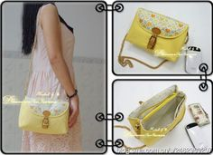 small messenger bag tutorial, it has 2 main compartments divided by a zipper pocket in the middle. It has no free pattern and originally written in chinese, a bit tedious to try to understand it (Diy Bag Sling) Handmade Fabric Bags, Small Messenger Bag, Handbag Patterns, Diy Couture, Creation Couture, Pouch Bag, Pouches, Cotton Bag, Small Bags