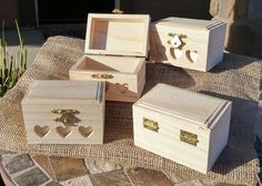 Unfinished Wood Box, Small Wood Box, Craft Box, Jewelry Box