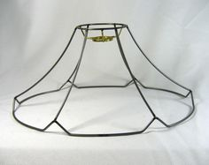 Lamp shade wire frame for table lamp cube 4 sided custom made lamp shade wire uno frame for bridge lamp oval bell original design greentooth Gallery