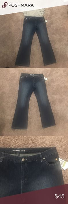 Micheal Kors boot cut blue jeans! Brand new! Micheal Kors boot cut blue jeans! Size 14. Rhinestone MK on back pocket! Really cute!! Michael Kors Jeans Boot Cut