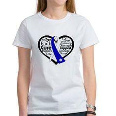 ALS Disease Heart Ribbon shirts, apparel and gifts #ALS #ALSdisease #ALSAwareness