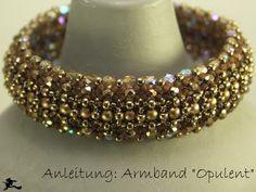 Armband Opulent Tutorial http://perlenspiegel.blogspot.hu/2009/11/anleitung-zum-armband-opulent.html