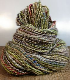 Hand Dyed Sock Yarn BFL Handspun Yarn Handspun Wool Yarn