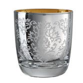 Found it at AllModern - Brocade Double Old Fashioned Glass in Silver