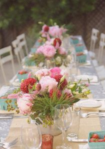 gorgeous spring or summer table