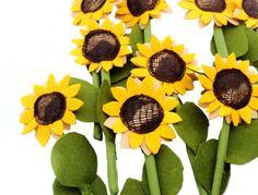 Montessori Toy Felt Textile ONE Sunflower Fabric Textile