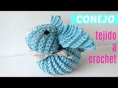CÓMO TEJER CONEJO CROCHET CON UN CUADRADO - YouTube Easter Crochet, Crochet Bunny, Crochet Home, Amigurumi Tutorial, Cute Stuffed Animals, Crochet Videos, Spring Crafts, Japanese Art, Applique