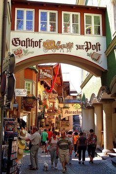 Summer tourists in Kufstein, Tyrol, Austria.   (by Peace Correspondent).